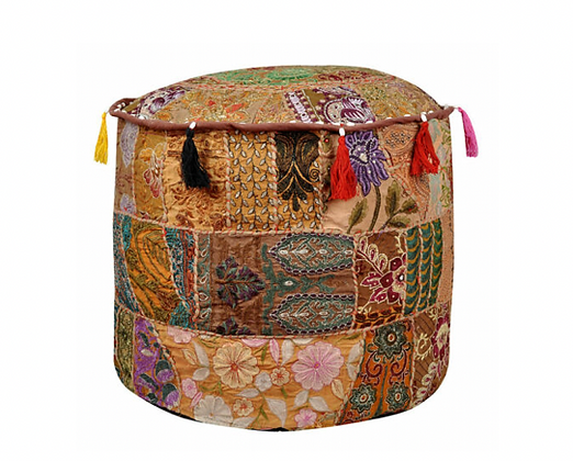 Fawn Indian Ottoman