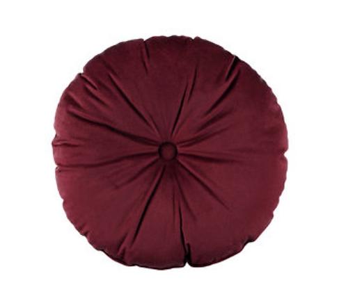 Round Maroon Cushion