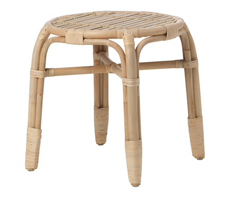 Round Cane Side Table