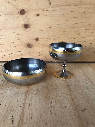 Silver and Gold Serving Pots