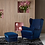 Thumbnail: Royal Blue Wingback Chair