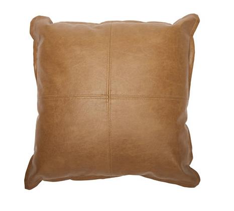 Tan Leather Look Cushion