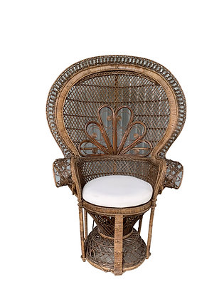 Grand Walnut Peacock Chair