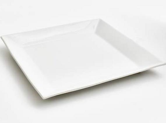 White Square Platter