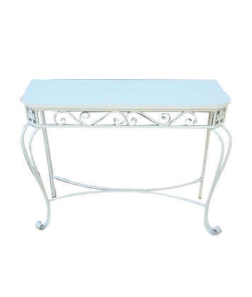 White Ornate Table