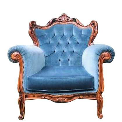 Vintage Royal Blue Armchair