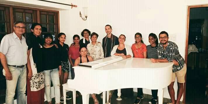 Alumnos de Master Class Goa (India, 2019)