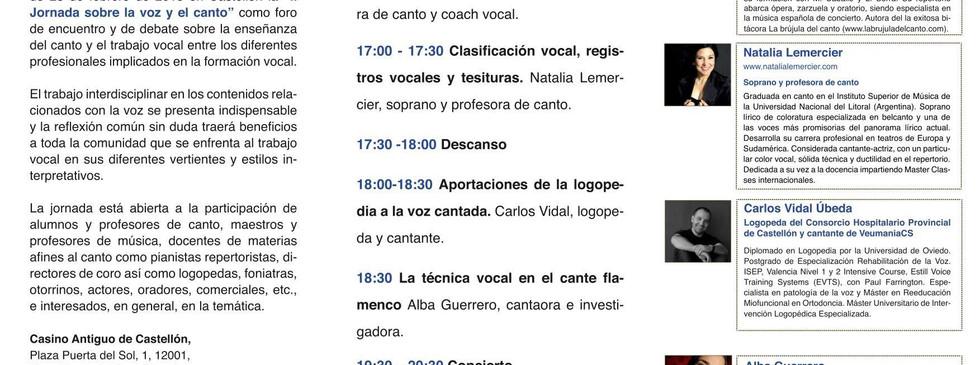 Participación en las Jornadas de la Voz