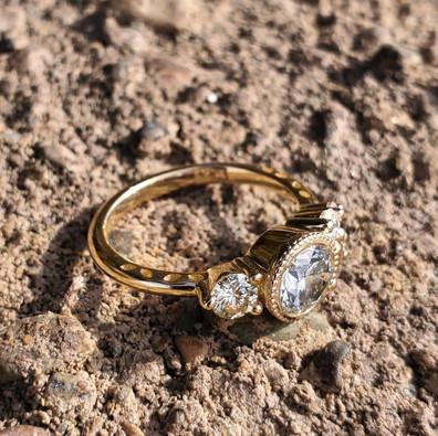 Asymmetrical Engagement Ring