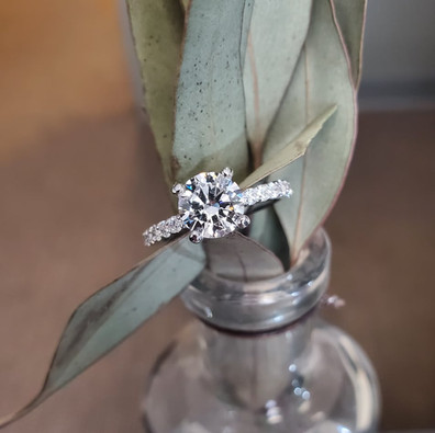 Classic Accented Engagement Ring