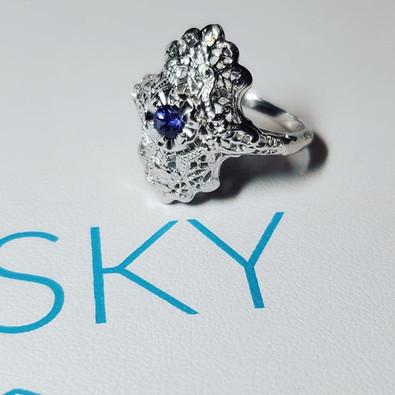 Antique Yogo Sapphire Ring