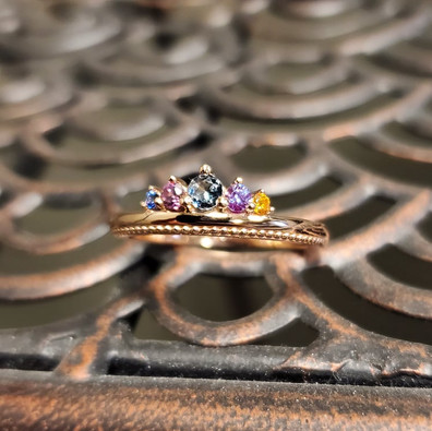 Tiara Style Mother's Ring