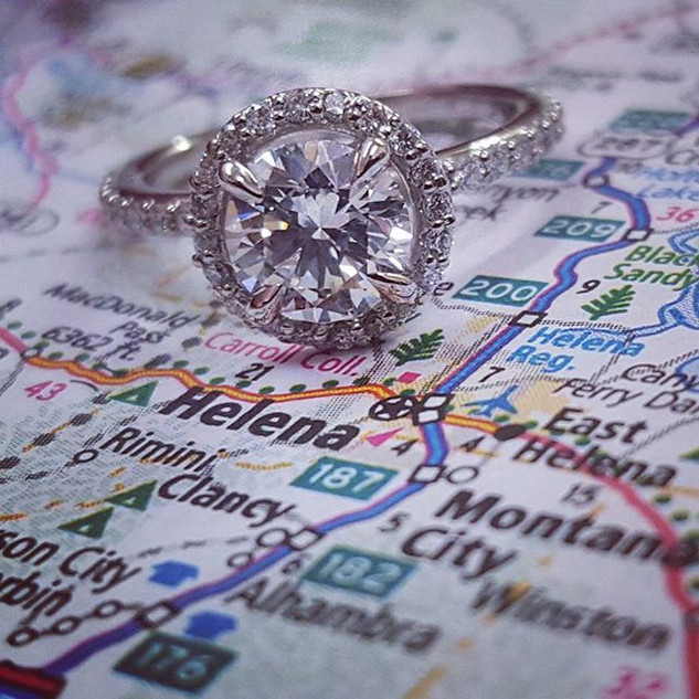 Beautiful halo engagement ring!