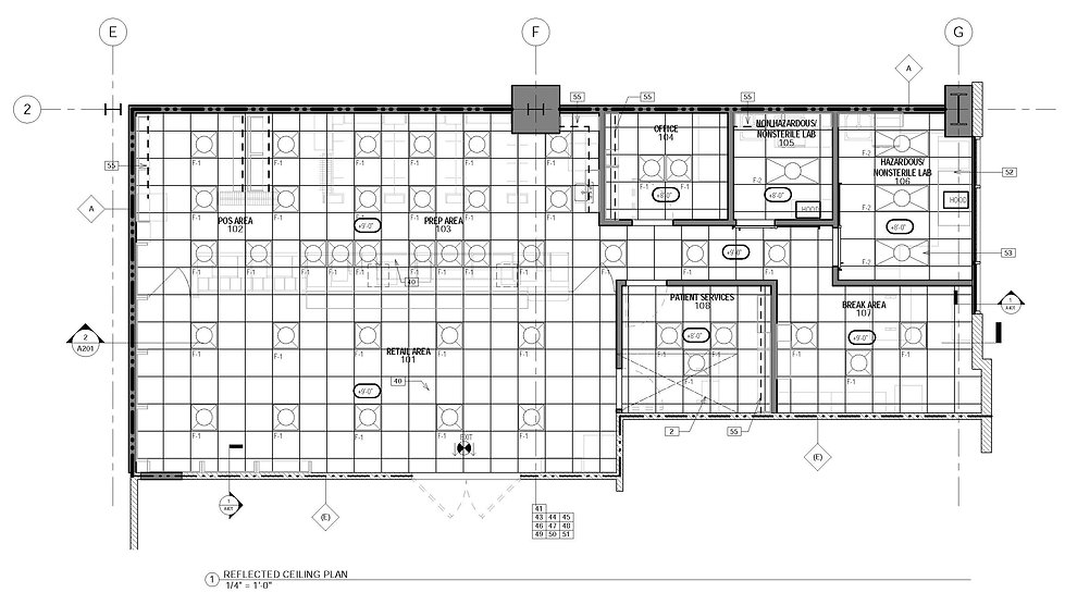 Commercial architect tenant improvement pharmacy design