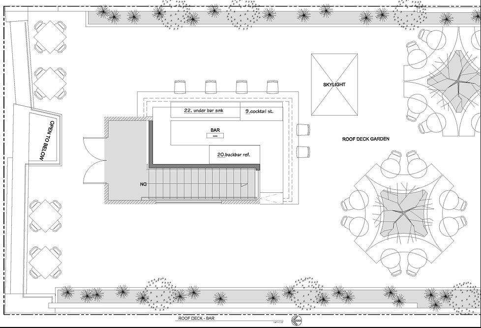 restaurant rooftop bar Design