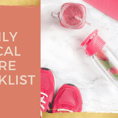 Vocal Care Check List!