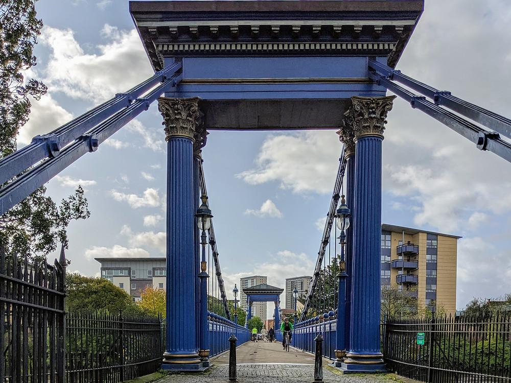 A bridge across the River Clyde along Glasgow Green