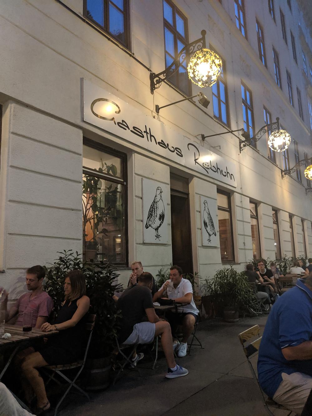Wonderful outdoor seating area at Gasthaus Rebhuhn.