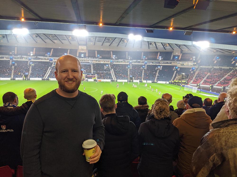 At a Scottish national team football match