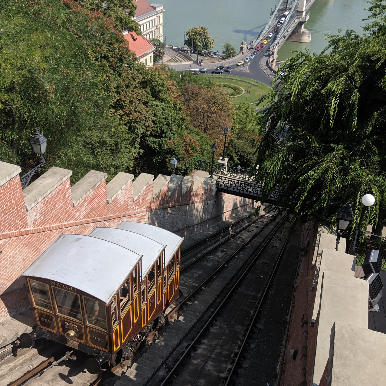 Funicular ride up to the Budda Castle.