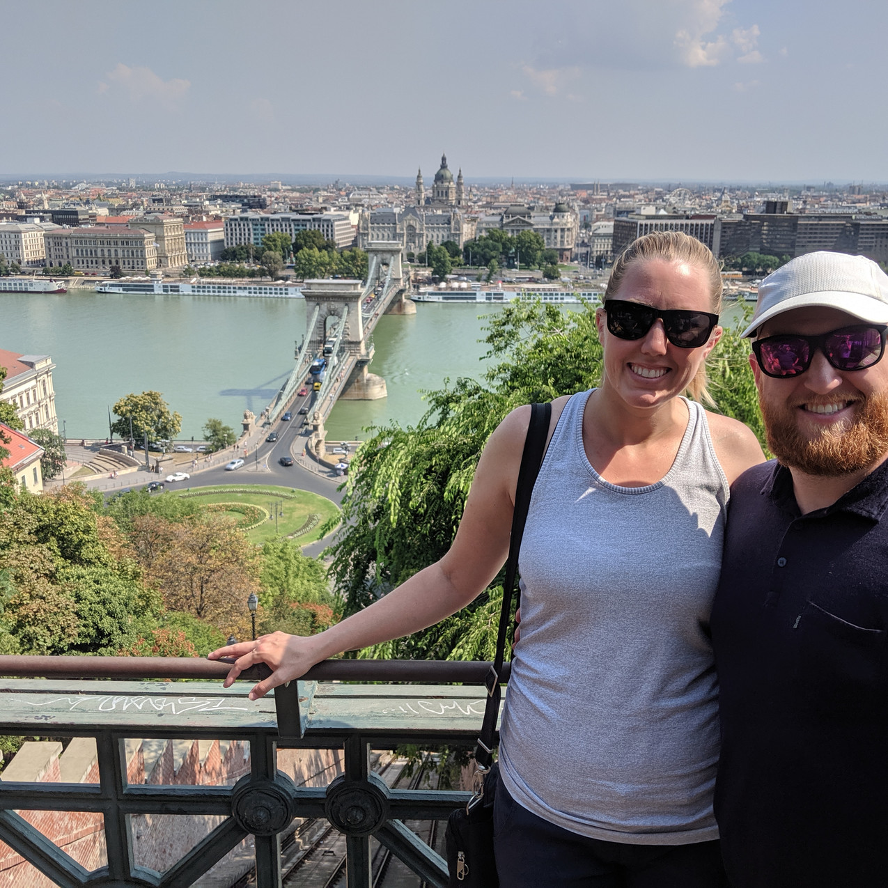 Eddie and Megan at one of the highest points in Budapest overlooking the city and the Danube river.