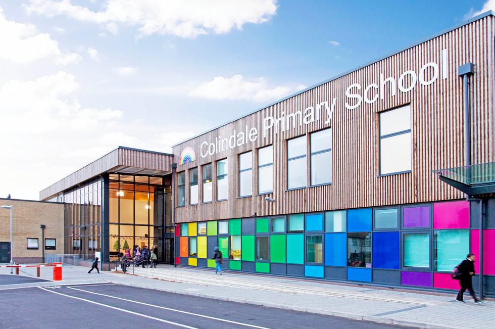 Colindale Primary School front exterior 1