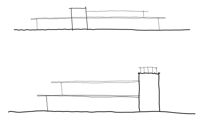 Bistro elevation sketches