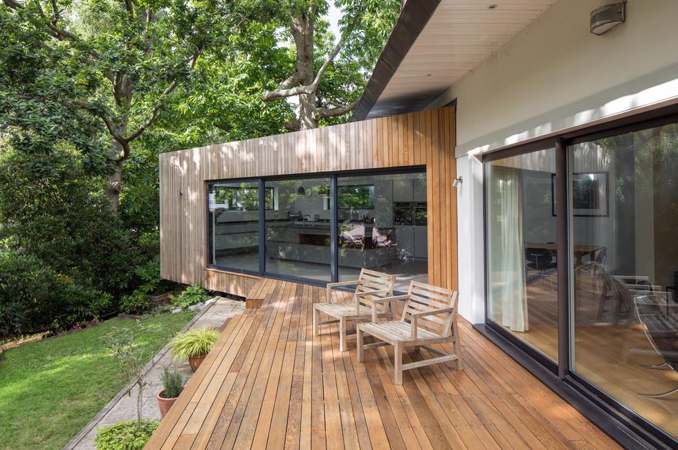 Floating House Garden deck