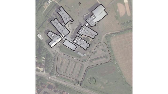 Melksham Oak School aerial sketch