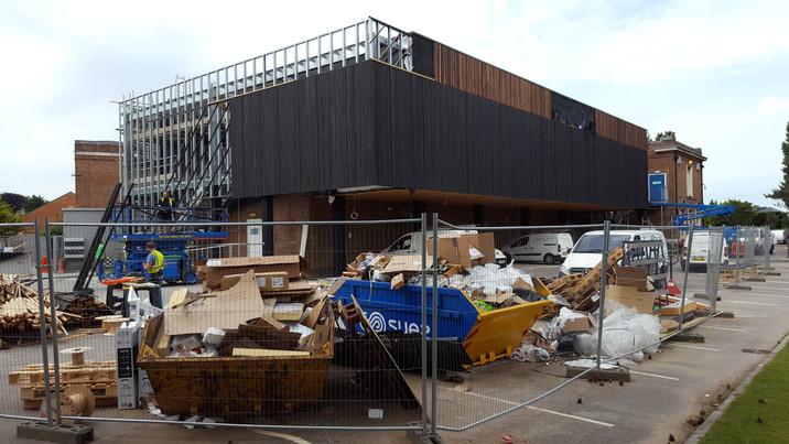 Stokewood exterior construction 4