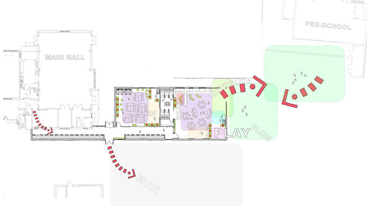 Downton School layout plan