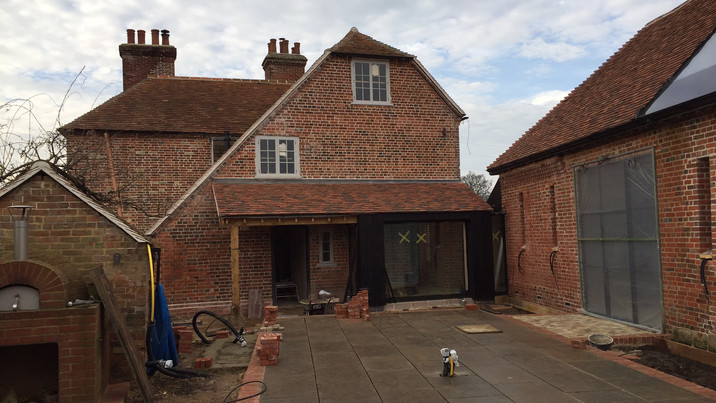 New Forest Farmhouse mid construction