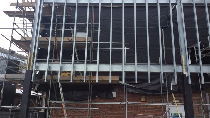 Stokewood exterior construction 2