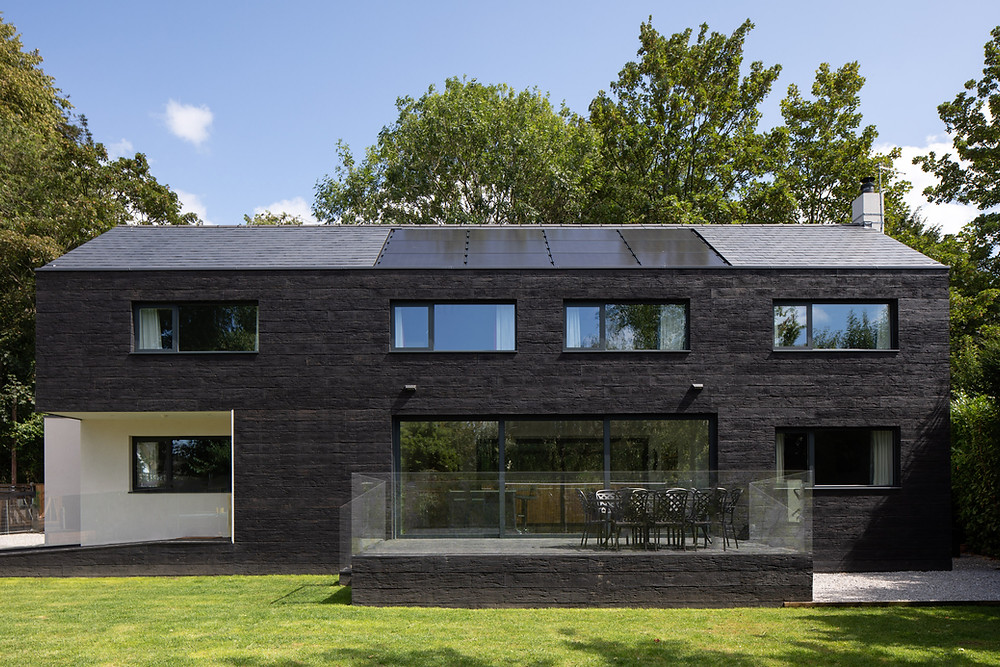modern family self build home with timber composite cladding in Wiltshire