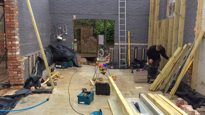New Forest Farmhouse construction