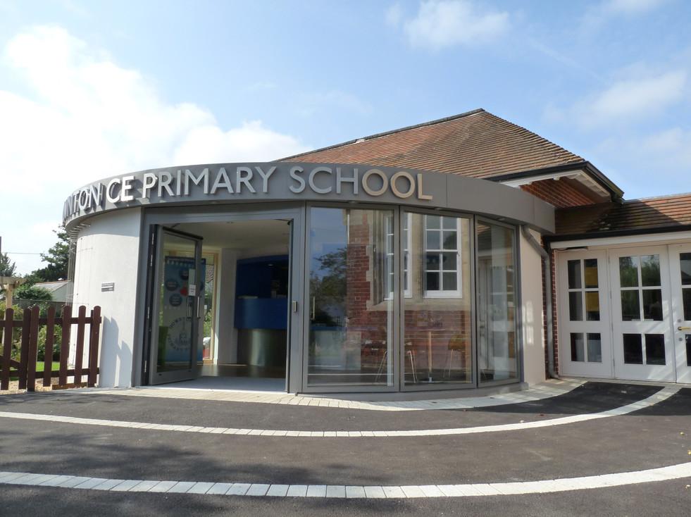 Downton Primary School Entrance extension exterior 2