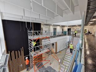Melksham atrium construction