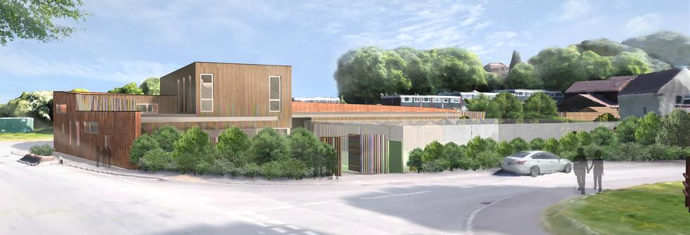 Bourne Valley Community Hub render 3