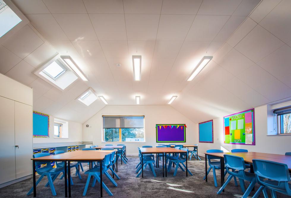 Downton Primary School white classroom interior