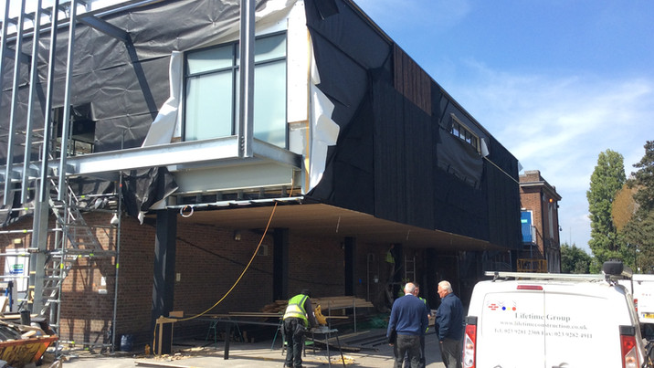 Stokewood exterior construction 1
