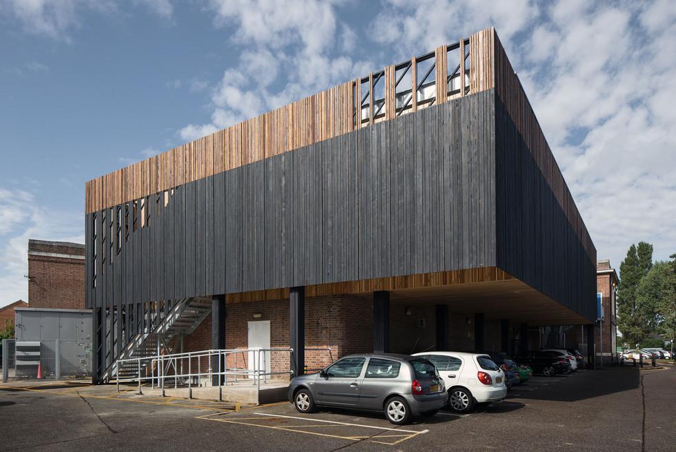 Stokewood Leisure centre front corner