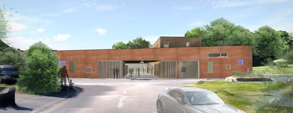 Bourne Valley Community Hub render 1