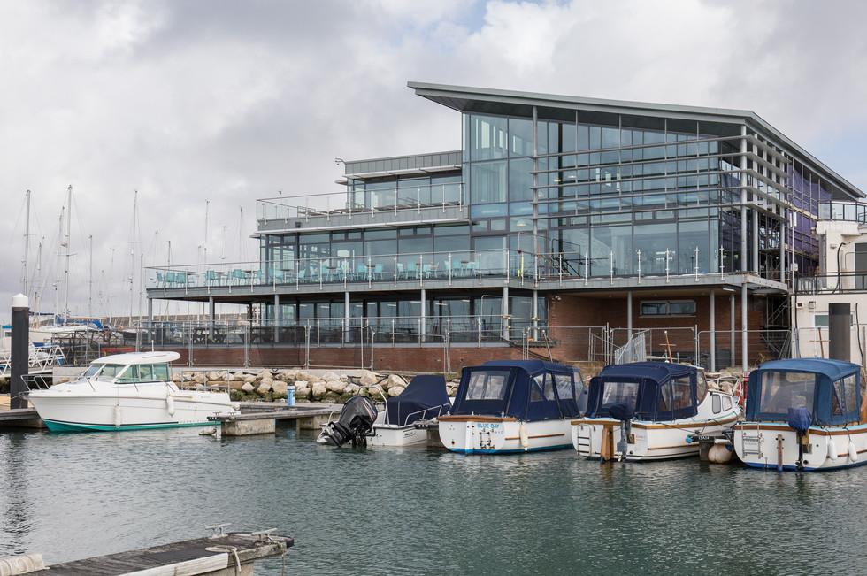 Parkstone Yacht Club from pontoon