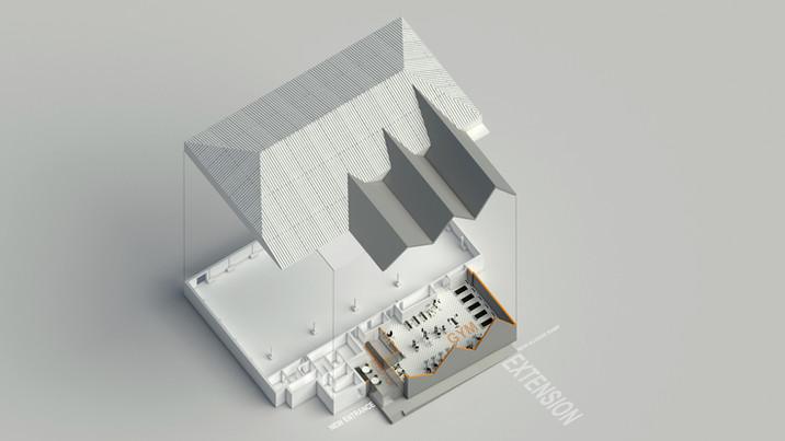BH Live axonometric 3D render
