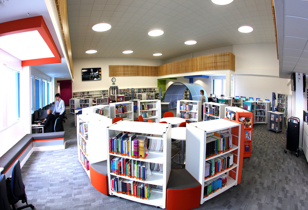 Bournemouth and Poole College Learning Resource Centre Interior 1