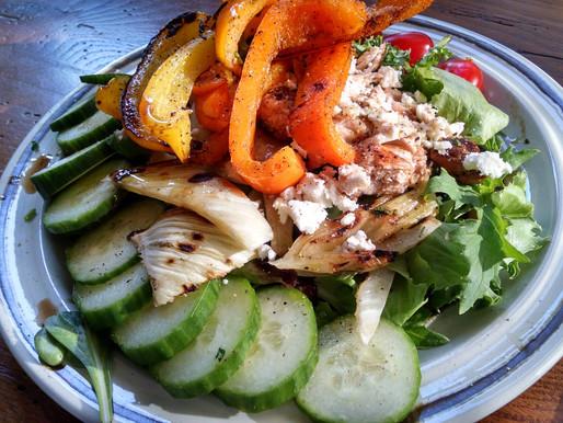 Grilled Chicken Fennel Salad