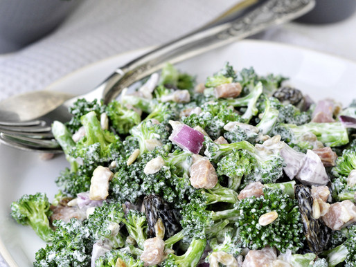 Sweet Curried Broccoli Salad