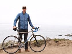 Loren Sunding with his bike