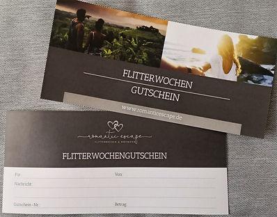 Flitterwocehn-Gutschein romantic escape