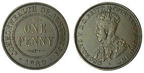 Australian Proof 1930 Penny